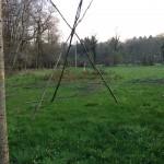 Grüne Wiese mit Spiel - Parcour